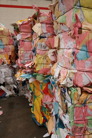 baled colour paper recycling
