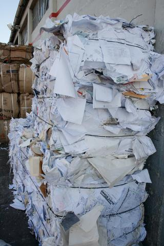 baled white paper recycling
